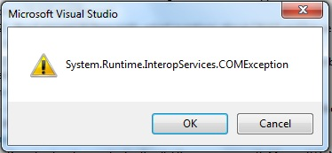 System.Runtime.InteropServices.COMException